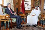Secretary Kerry Meets With Amir Hamad bin Khalifa al-Thani