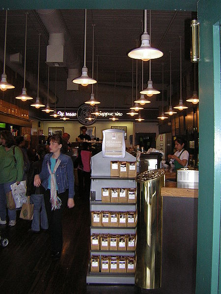 File:Seen from the door of the first Starbucks.jpg