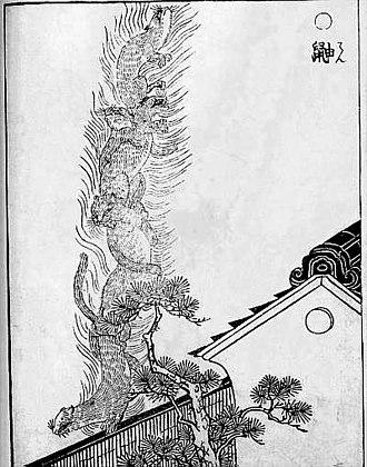 """Weasel - """"Ten"""" from the Gazu Hyakki Yagyō by Sekien Toriyama"""