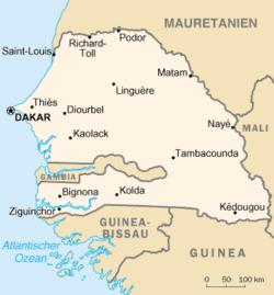 Senegal konumu