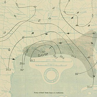 1897 Atlantic hurricane season - Image: September 12, 1897 hurricane 2 map