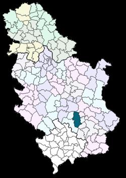 prokuplje mapa srbije Prokuplje (općina) – Wikipedija prokuplje mapa srbije