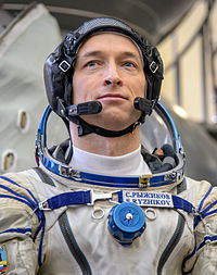 Sergey Ryzhikov at the Gagarin Cosmonaut Training Center in Star City.jpg