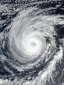 Category 3 Hurricane Sergio acquiring some annular characteristics on October 7
