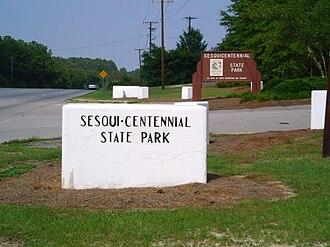 Sesquicentennial State Park - Image: Sesquicentennial park front gate