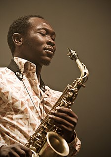 Seun Kuti Nigerian Afrobeat saxophonist, singer, and bandleader of Egypt 80
