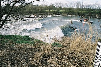 Severn bore - The Severn bore near Over Bridge