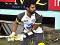 Shabbir Ahluwalia batting CCL match, India, 2011.jpg