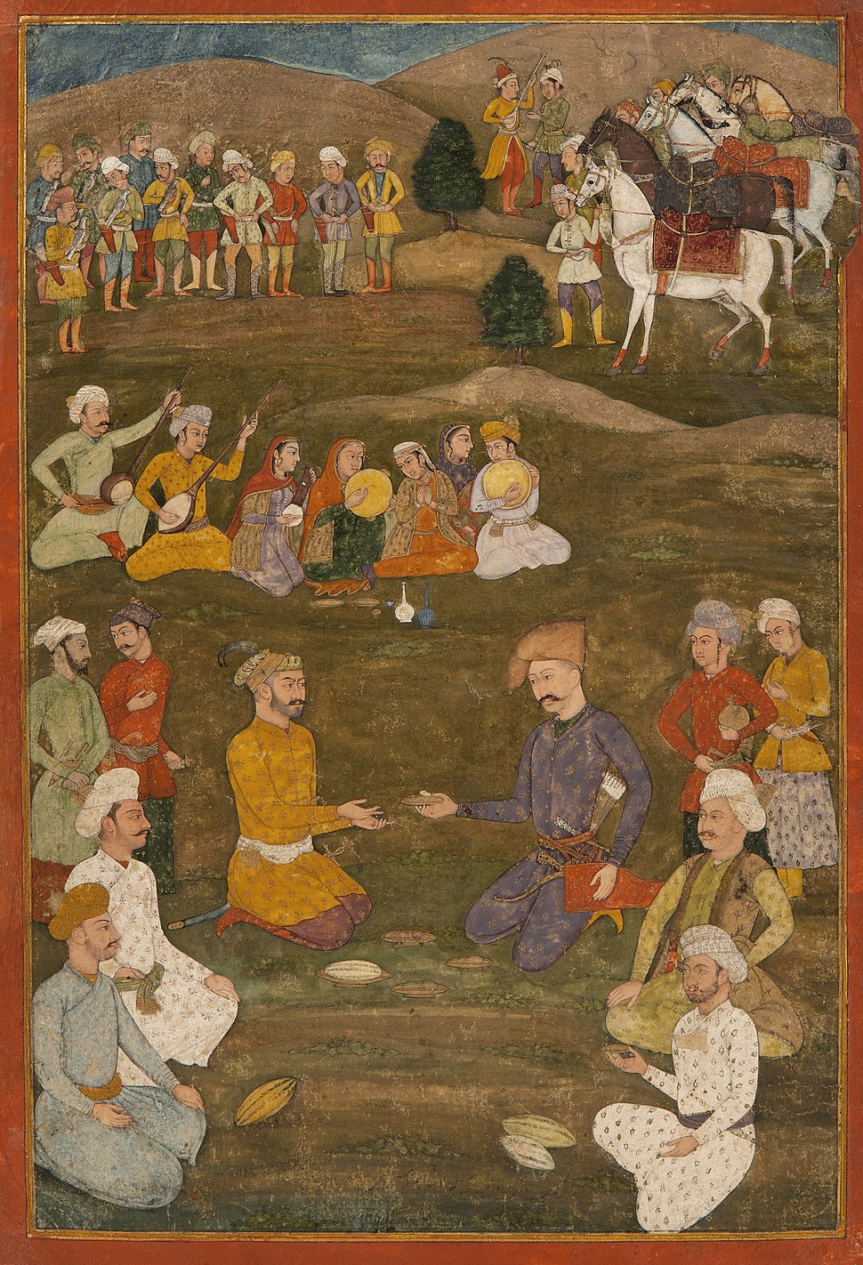 Shah Abbas the Great receiving the Mughal ambassador Khan'Alam in 1618