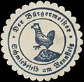 Siegelmarke Der Bürgermeister Schmiedefeld am Rennsteig W0391208.jpg