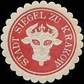 Siegelmarke Stadt Siegel zu Krakow - Mecklenburg W0393700.jpg