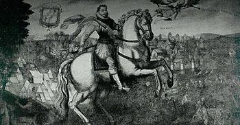 The Polish King Sigismund III.  during the siege of Smolensk