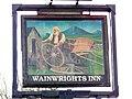 Sign for Wainwights Inn - geograph.org.uk - 1801845.jpg