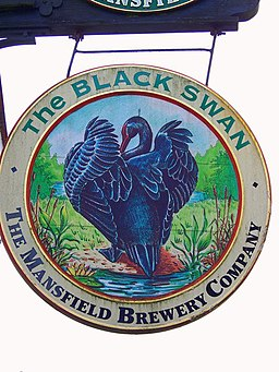 Sign for the Black Swan, Brandesburton - geograph.org.uk - 591021