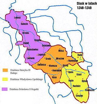 Duchy of Silesia - Image: Silesia 1248 1249
