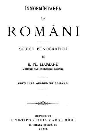 Strigoi - Inmormantarea la romani (Romanian burial) written by Simion Florea Marian