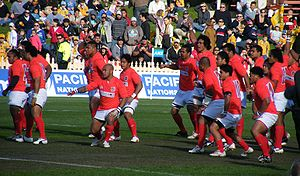 Rugby union in Tonga - The national team performing the sipi tau