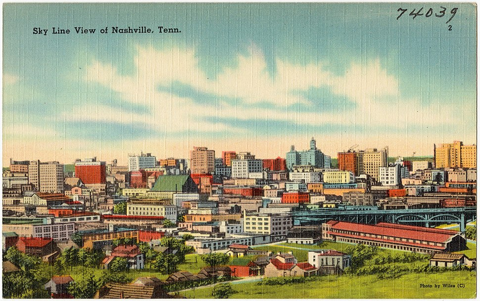 Sky line view of Nashville, Tenn (74039)