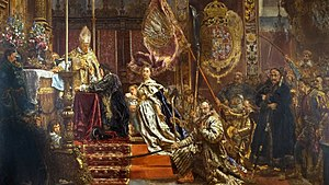 Lviv - A painting by Jan Matejko of King John II Casimir pledging his famous oath in Lwów's Latin Cathedral.