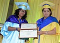 Smriti Irani presenting the degree to a student, at the 4th Convocation of the Indian Institute of Science Education & Research (IISER), Kolkata, at IISER, Mohanpur, Nadia, in West Bengal (1).jpg