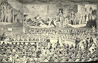 William Shipley - The Society of Arts distributing its awards (engraving – artist unknown).