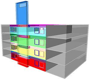 Solar chimney house design