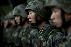 Soldiers of the Chinese People's Liberation Army - 2011