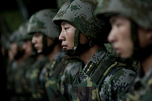 People's Liberation Army Ground Force - Soldiers of the People's Liberation Army Ground Force in 2011.