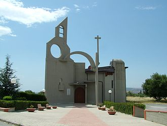 Sortino - The abstract shaped Chiesa di San Giuseppe.