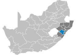 Ligging Umgungundlovu District Municipality
