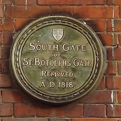 Photo of South Gate, Colchester green plaque