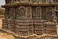 South Side Trikuta Carvings - Lakshmi Narasimha Temple, Nuggehalli 04.jpg
