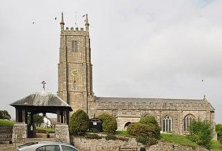 South Tawton Village in Devon, England