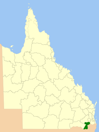 Southern Downs Region - Location within Queensland