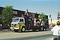 Spring1991-KodakEktar125Film 0036 - The 1st annual Fresno Rainbow Pride - The last float of the 10-minute long parade - The Fresno Express! (9679393621).jpg
