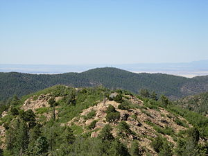 Bradshaw Mountains - Spruce Mountain seen behind Mount Davis, from the peak of Mount Union