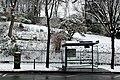 Square Samuel-de-Champlain (Paris) sous la neige, vu depuis l'avenue Gambetta 05.jpg