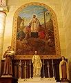 St. Francis Xavier Basilica (Vincennes, IN), interior, St. Francis Xavier mural by Wilhelm Lamprecht (cropped).jpg