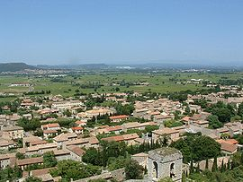 A general view of Saint-Victor-la-Coste