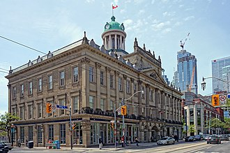 St. Lawrence, Toronto - St. Lawrence Hall was erected in 1854 as a public meeting hall for residents of Toronto. It was built after the 1849 fire of Toronto.