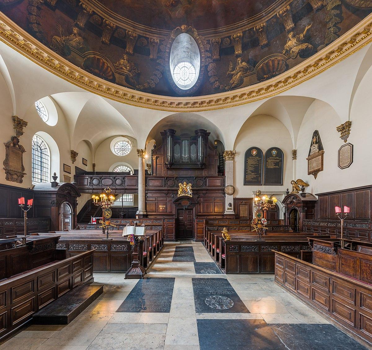 Px St Mary Abchurch Towards Organ C London C Uk Diliff