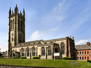 Listed buildings in Ashton-under-Lyne - Image: St Michael, Ashton under Lyne