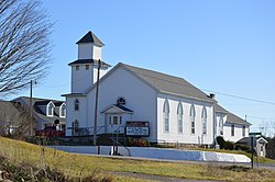 Methodist church, State Route 145 and Main Street