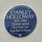 blue plaque commemorating Holloway