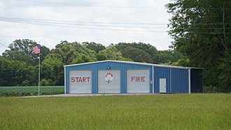 Start, Louisiana - Image: Start Fire Department, Station Two