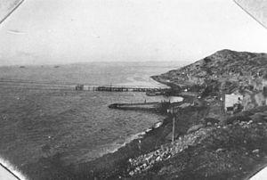 English: Landing places at Gallipoli, Turkey, ...