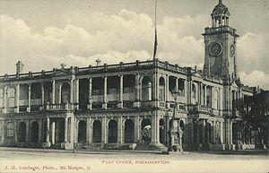 Rockhampton - Rockhampton Post Office, circa 1895