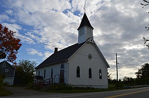 North East Township, Erie County, Pennsylvania - State Line Methodist Church, located in Pennsylvania, as seen from New York