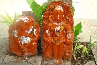 Taxakeshwar - Statue of Dhanvantari at Taxakeshwar temple