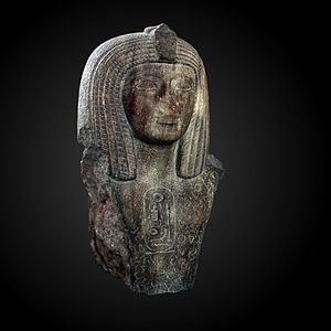 Adze-on-block (hieroglyph) - Image: Statue of Pharaoh Osorkon I AO 9502 IMG 7653 gradient